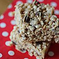 Peanuts butter and chocolate chip rice krispie treats allégé, enfin autant que possible!!!