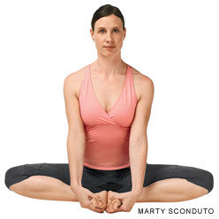 posture yoga papillon