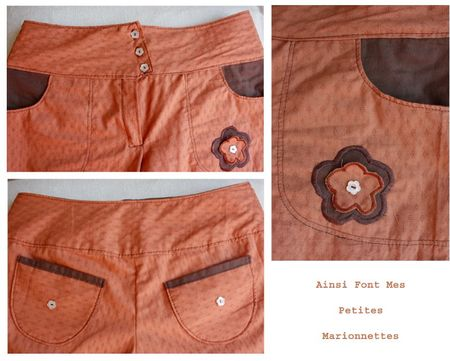 pantalon orange detail