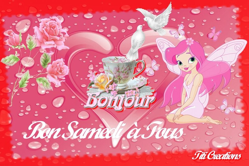 bon samedi fée rose