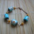 bracelet bleu et jaune