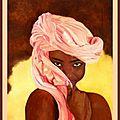 L'africaine - Huile - 46 x 38 - 10 juillet 2008