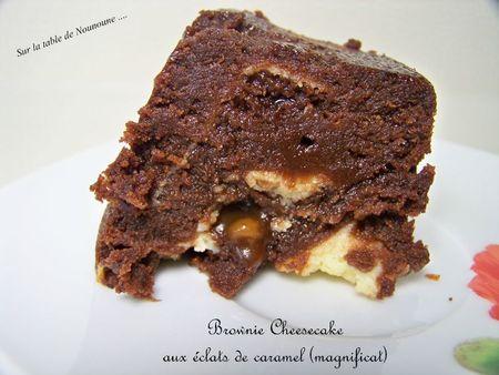 Brownie Cheesecake aux éclats de caramel 3