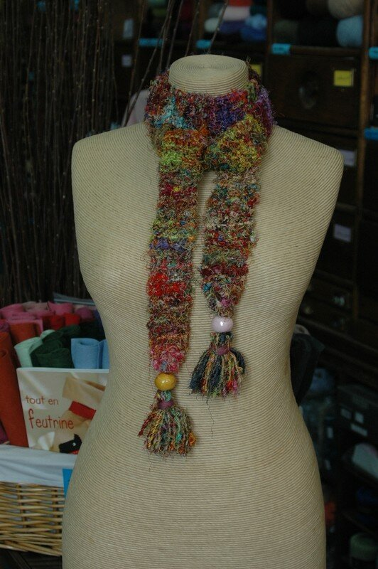 Echarpe/ceinture en Sari silk (création Le Comptoir)