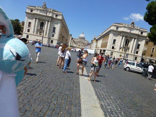 Rome - Arrivée à la basilique St Pierre