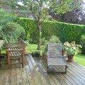 ee la terrasse après la pluie