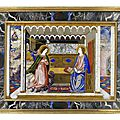 A florentine early 18th century pietre dure panel, the annunciation, possibly by baccio cappelli, of the grand ducal workshops,