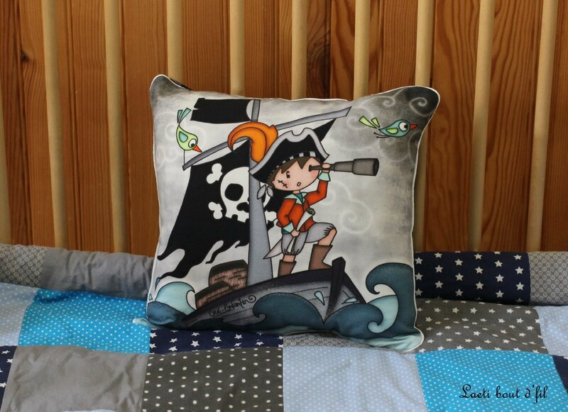 coussin 2 pirate