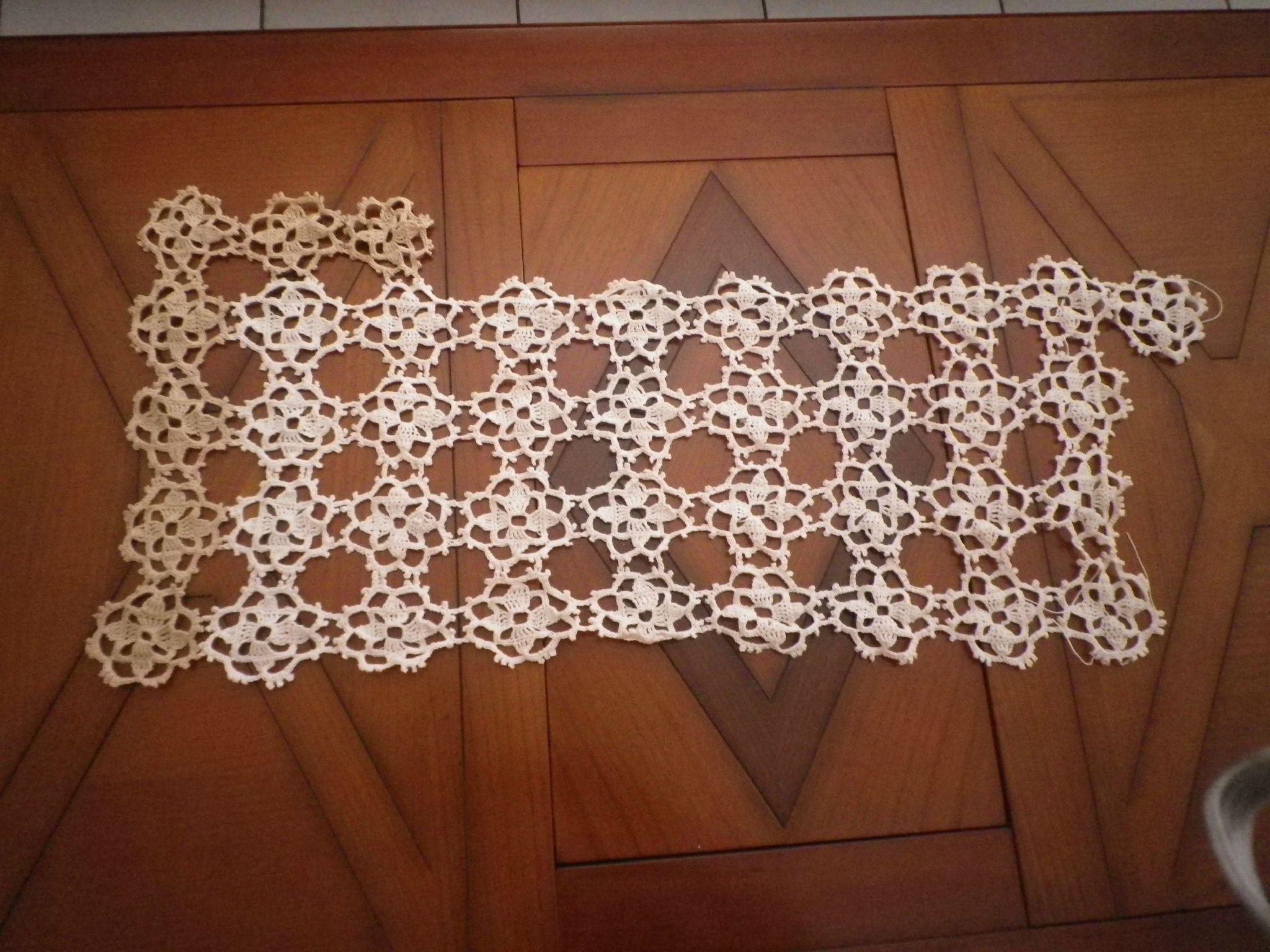 Grand Napperon Au Crochet concernant grand napperon de table de salon - le blog tricot et crochet de jocelyne