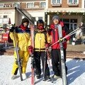 Martine au ski
