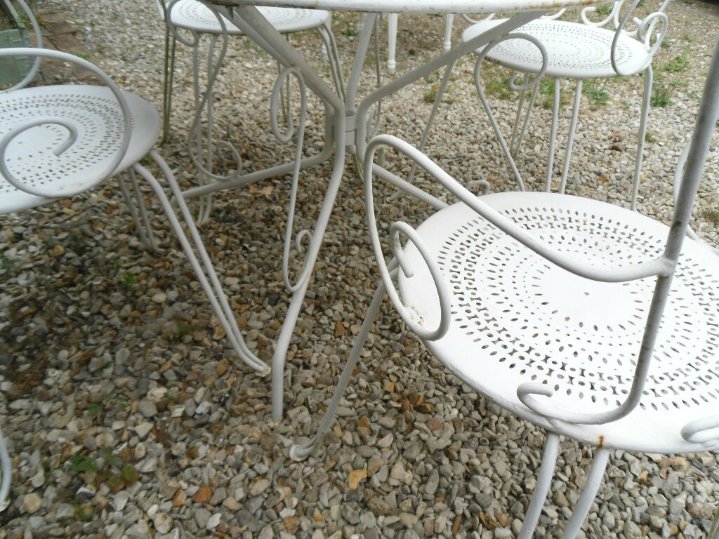 Best table de jardin ancienne en fer forge pictures - Table jardin fer forge occasion ...