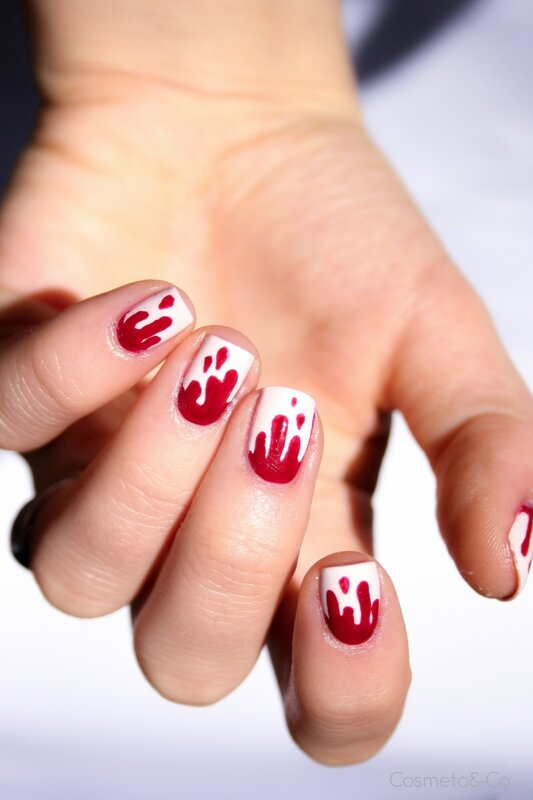 nail art bloody nails halloween