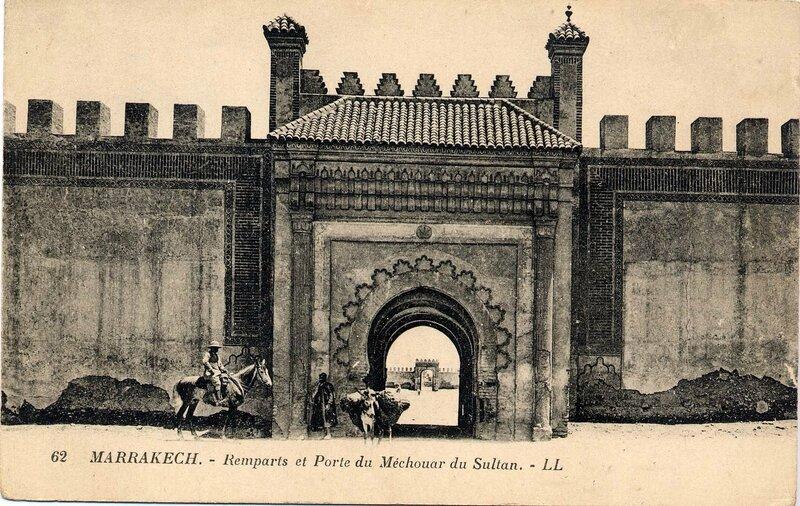 62LL-CP M'Kech ancien_Bab Mechouar (palais du Sultan) 02