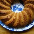 Cake noisettes miel flocons d'avoine