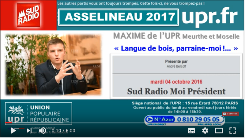 MAXIME SUD RADIO 4OCT16