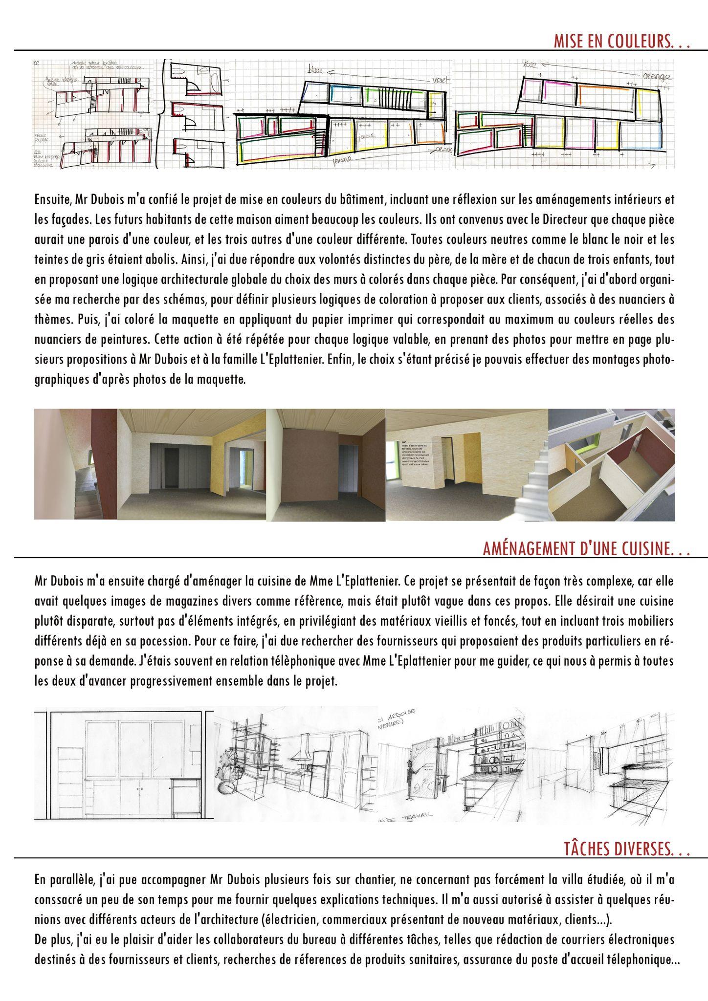 Rapport de stage en architecture for Stage architecte interieur