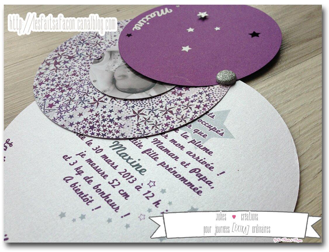 Souvent Faire rond liberty prune et étoiles - Jolies créations, le blog  RH93