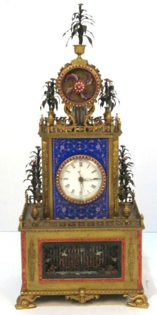 Rare 19th century Chinese automaton clock with elaborate jewel work brings $526,750 at auction