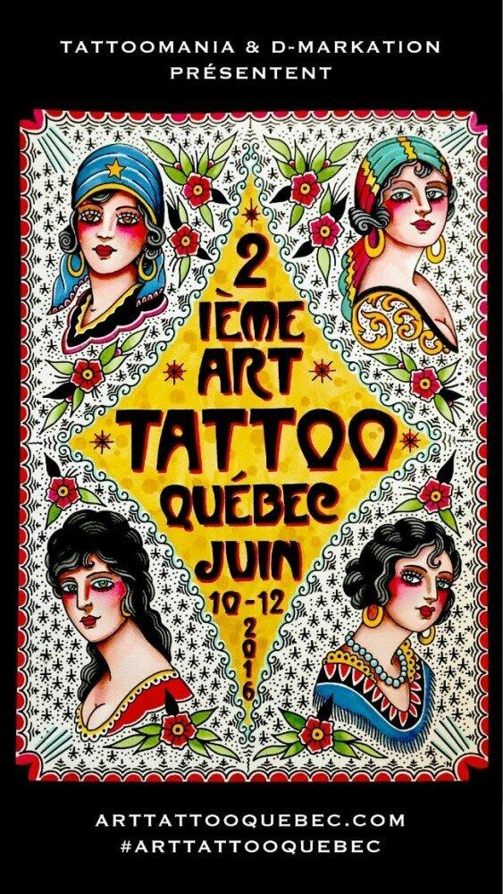 Art Tattoo Show Québec 10-12 Juin 2016