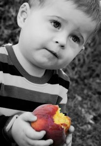 1098259_little_boy_eating_a_peach__2