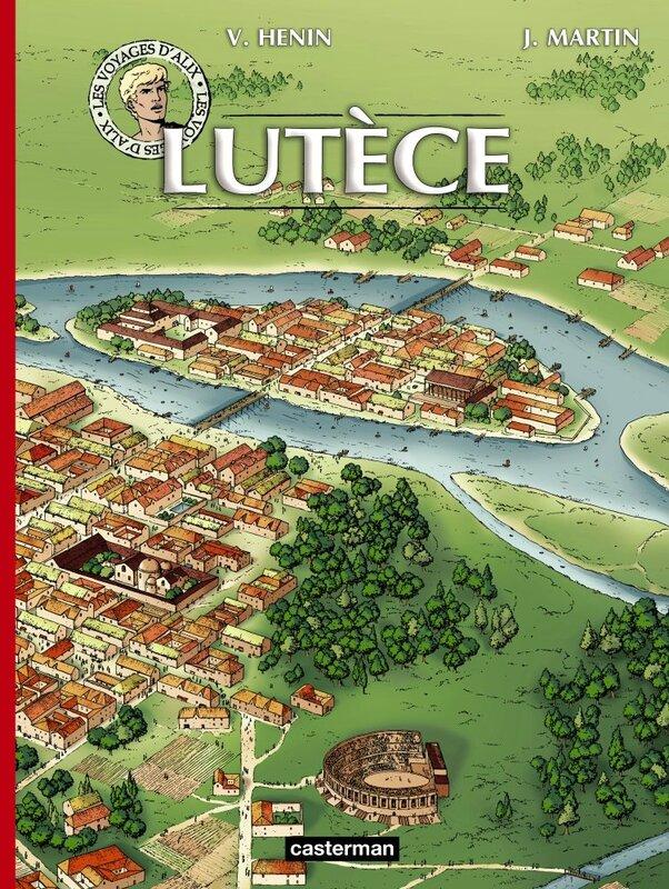 Couverture réédition Voyages d'Alix - Lutèce
