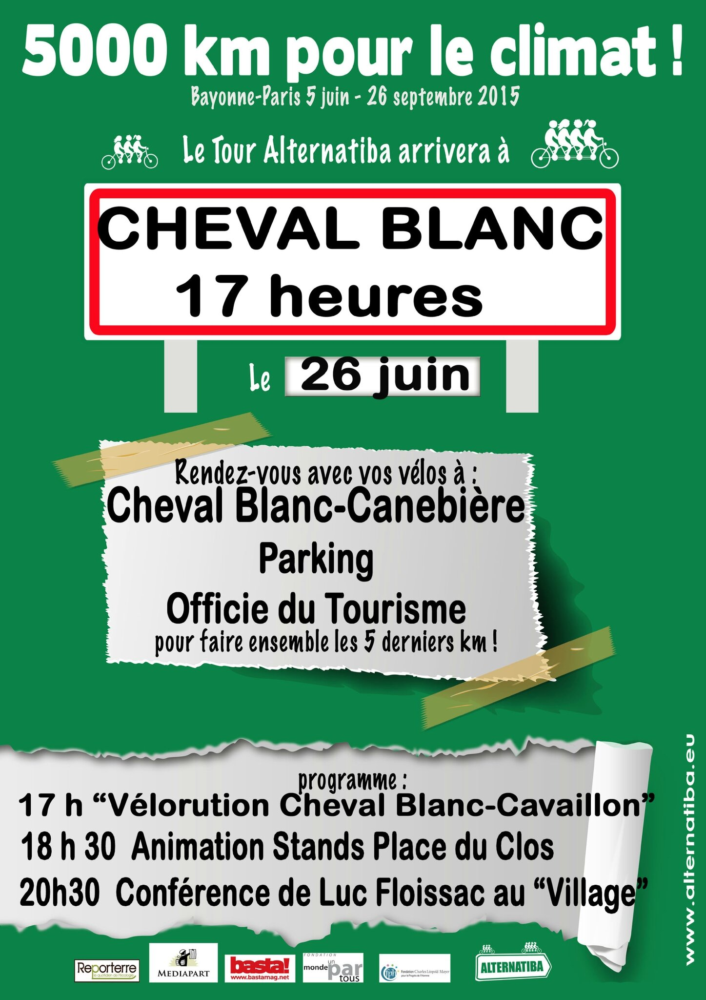 Alternatiba le programme à Cavaillon