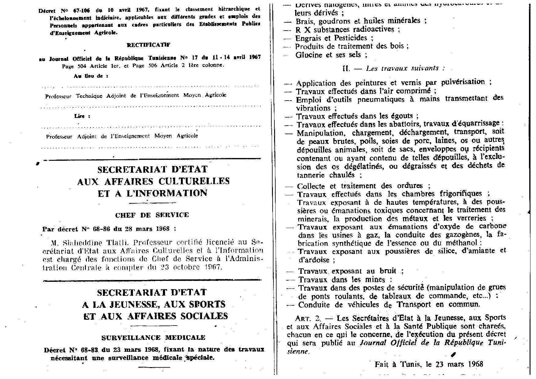Surveillance Médicale Spéciale en Tunisie ou Renforcée en France