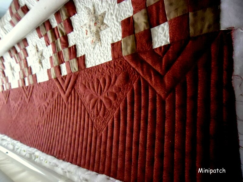 Chaine Irlandaise, long arm quilting