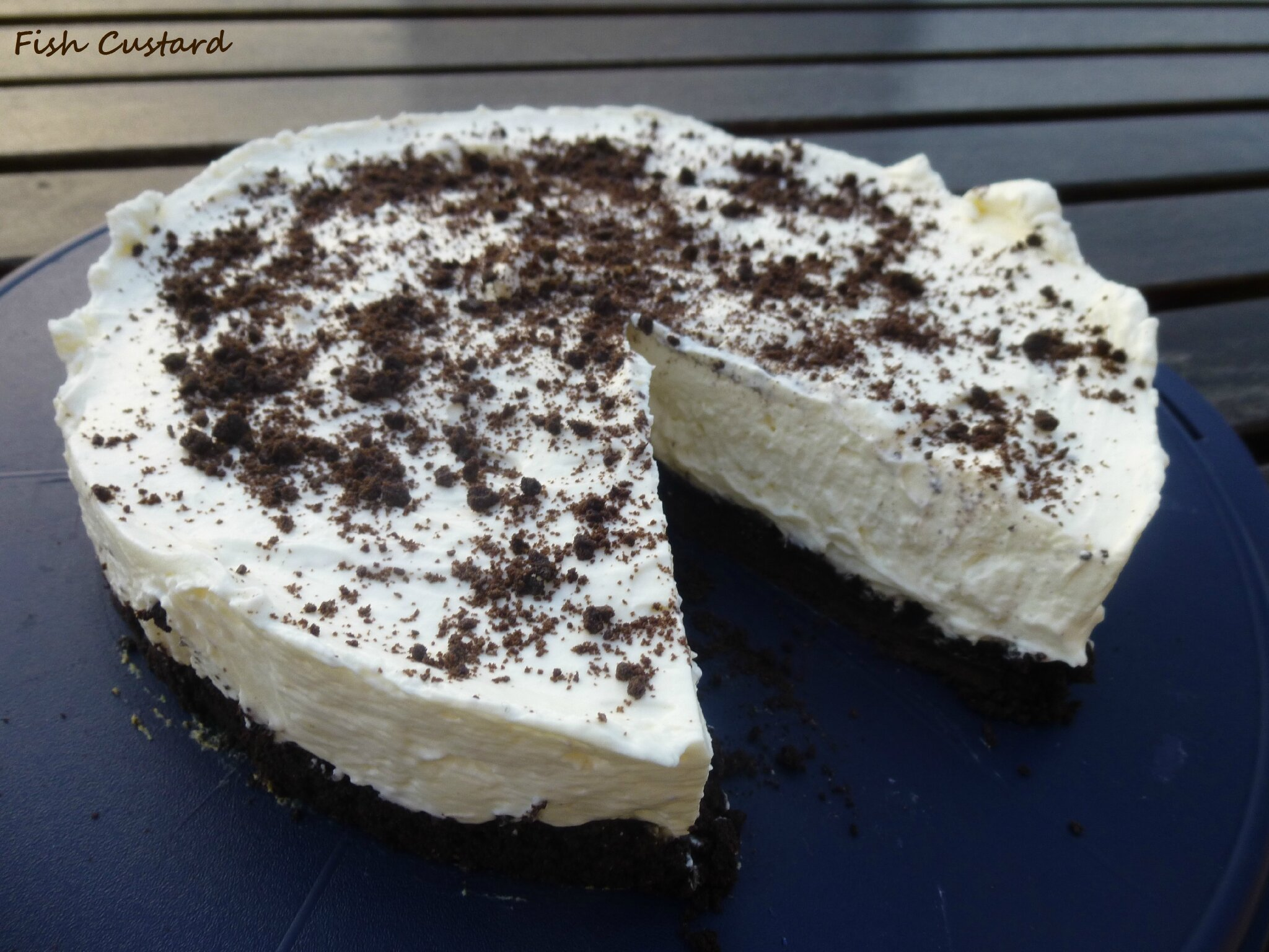 cheesecake aux oreo sans cuisson fish custard. Black Bedroom Furniture Sets. Home Design Ideas