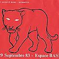 The stranglers - jeudi 29 septembre 1983 - espace basf paris