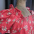 Robe ALBANE en coton rouge fleuri (4)