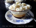 riz au lait sur compotée de pommes