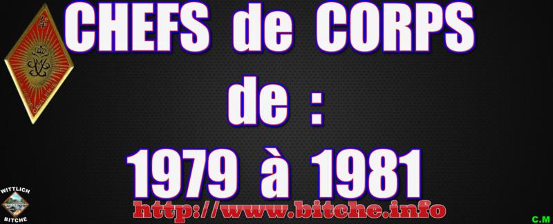 CHEFS de CORPS de 1979