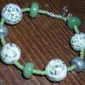 Bracelet mosaïque vert