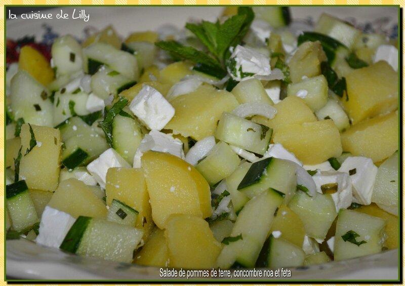 salade pdt, concombre noa et feta