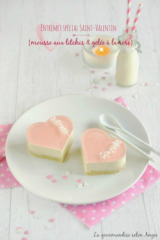 entremet vegan saint-valentin litchi rose