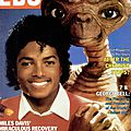 Michael jackson and e.t. - ebony, décembre 1982