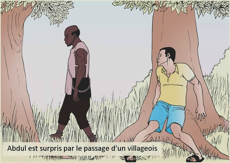 Abdul est surpris par le passage d-un villageois-nouvelle littéraire-chrétienne-Délires d'Amoureux