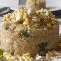 Quinoa cajou-miso et oeufs brouillés
