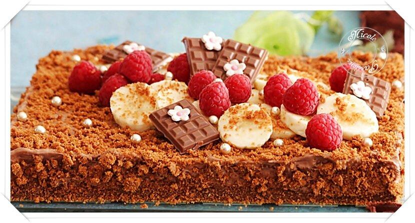 Gâteau spéculoos et mousseux chocolat au lait......Une pure merveille! Une tuerie sans pareille!!!!!