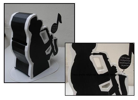 urne de mariage theme musique idees et merveilles. Black Bedroom Furniture Sets. Home Design Ideas