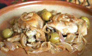 poulet olives et crème fraîche