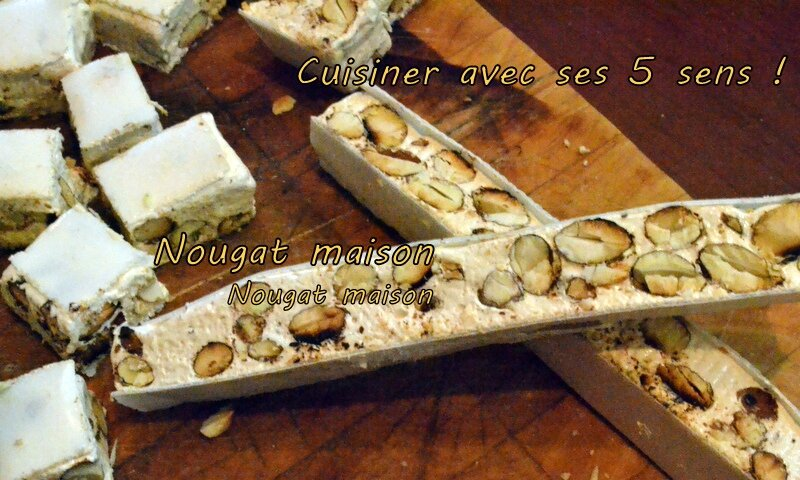 nougat aux amandes au thermomix cuisiner avec ses 5 sens. Black Bedroom Furniture Sets. Home Design Ideas