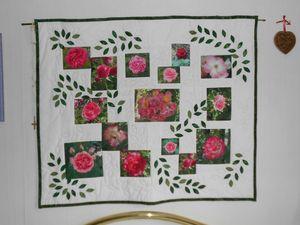 Roses appliqué et piécé