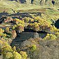 Ecobuages au dessus du canyon du bitet