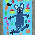 Bricolage: koala peinture pied