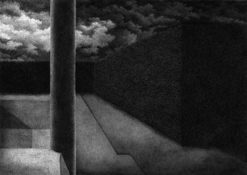 Ce que voyait Pierre 3, stylo bille sur papier, 22, 8x16,4, 2015, vendu, prix atelier 350
