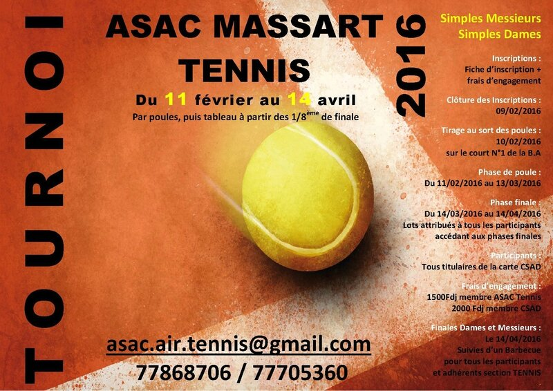 AFFICHE TOURNOI TENNIS 2016