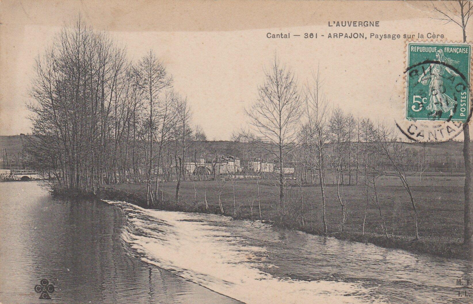 L'Auvergne Cantal - 361 - ARPAJON, Paysage sur la Cère