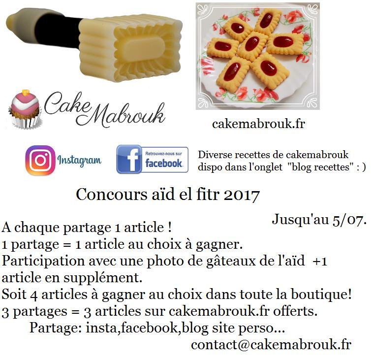Concours Aïd el fitr chez Cake Mabrouk